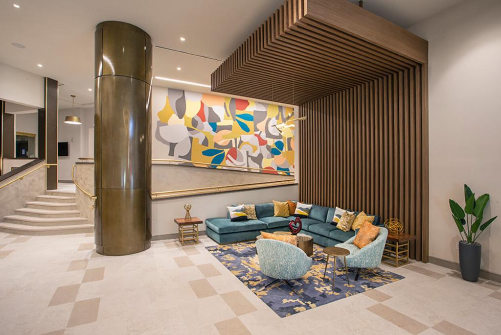 Elegant Art Inspired Lobby