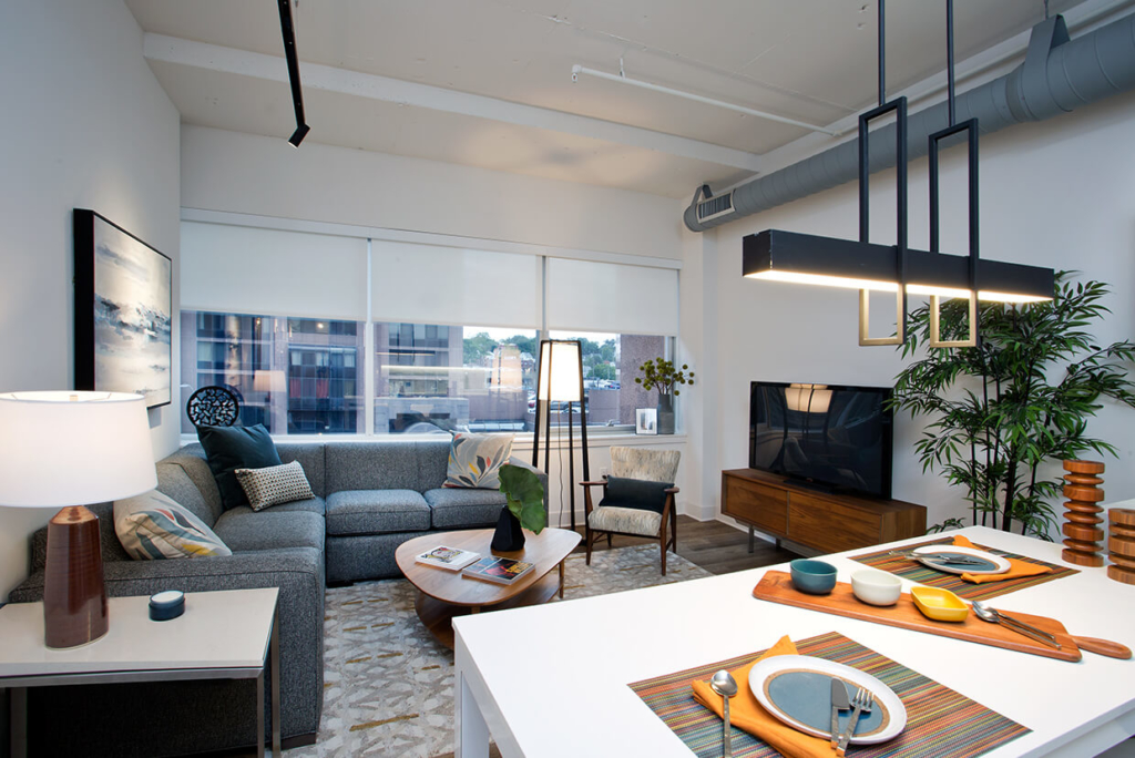 Living Area showing included Custom Lighting